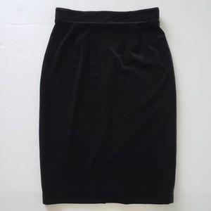 Antonio Melani Black Velvet Pencil Skirt Womens 10